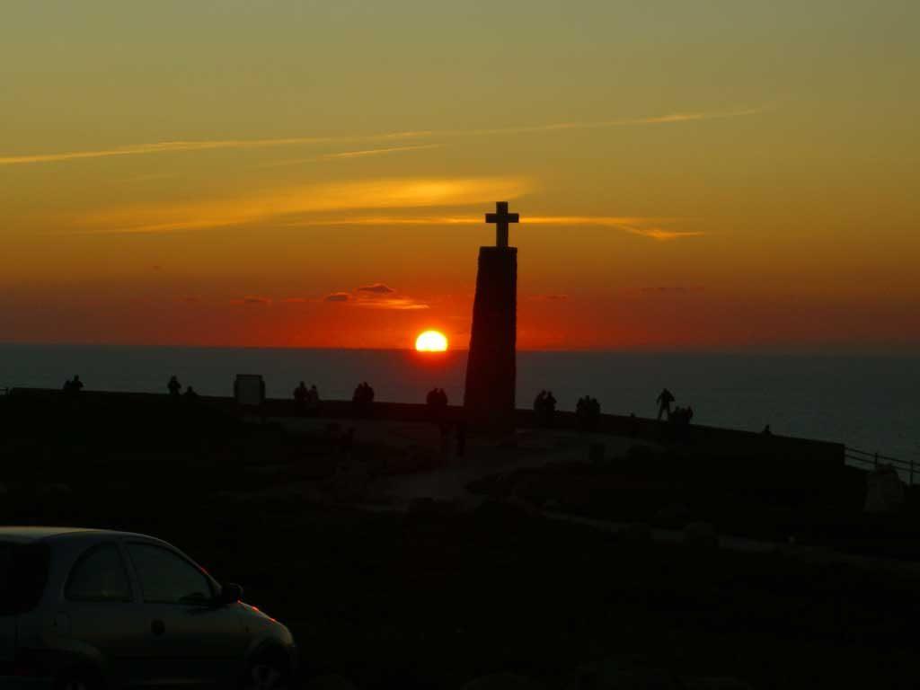 ポルトガルのロカ岬からの夕日