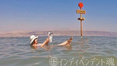死海で日経を読む