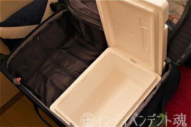 海外旅行お土産、冷蔵品チョコレート持ち帰り用軽量クーラーボックス