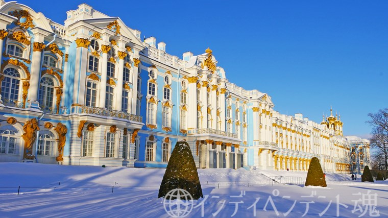 冬のエカテリーナ宮殿