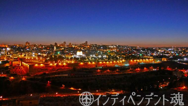 オリーブ山からの夜景