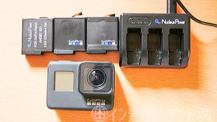 GoPro互換バッテリー